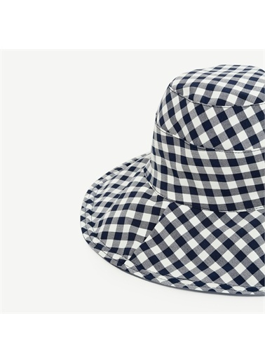 Yargıcı Pötikare Desenli Şapka Lacivert